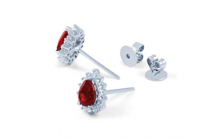 Starlight Pear Ruby Stud Earrings product image 3