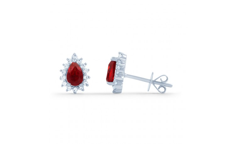 Starlight Pear Ruby Stud Earrings product image 2