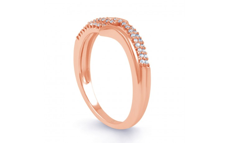 Rose Gold Diamond Cluster Ring product image 2