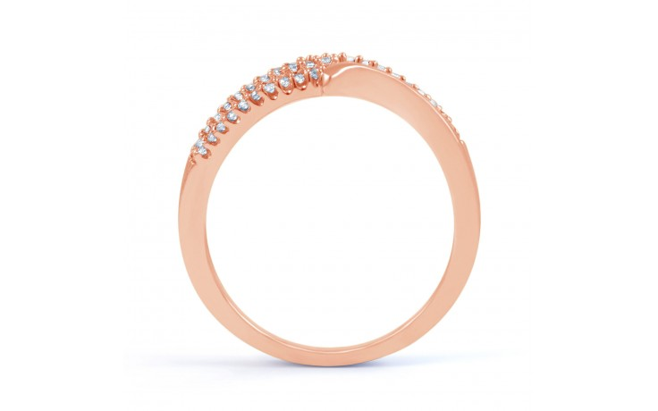 Rose Gold Diamond Cluster Ring product image 3