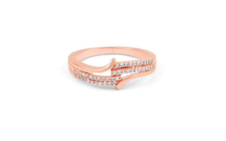 Rose Gold Diamond Cluster Ring product image 1