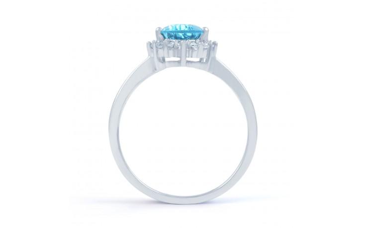 Vintage Floral Blue Topaz Ring product image 3
