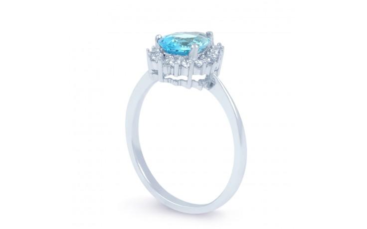 Vintage Floral Blue Topaz Ring product image 2