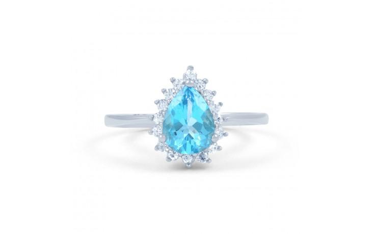 Vintage Floral Blue Topaz Ring product image 1