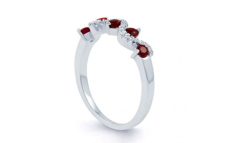 Ruby Half Eternity Ring product image 2