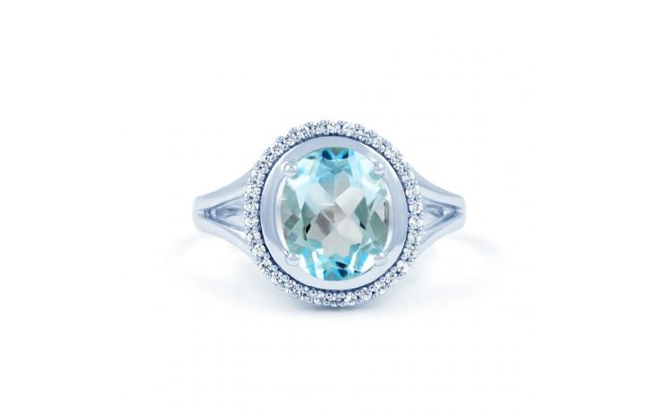 Blue Topaz & Diamond Oval Ring product image 1