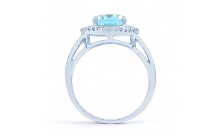 Blue Topaz & Diamond Oval Ring product image 3