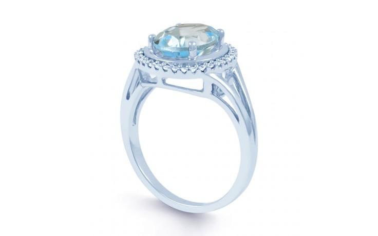 Blue Topaz & Diamond Oval Ring product image 2