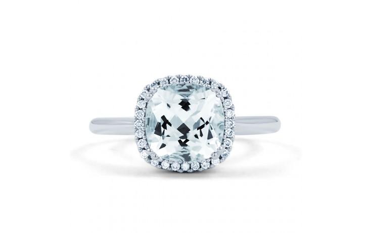 Cushion Aquamarine Ring In White Gold product image 1