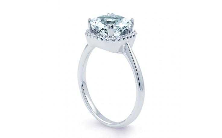 Cushion Aquamarine Ring In White Gold product image 2