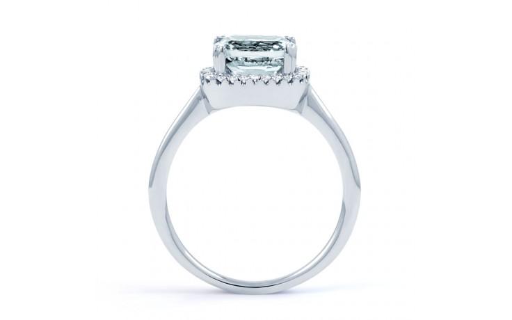 Cushion Aquamarine Ring In White Gold product image 3