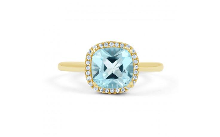 Cushion Cut Blue Topaz Ring product image 1