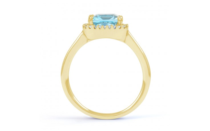 Cushion Cut Blue Topaz Ring product image 2