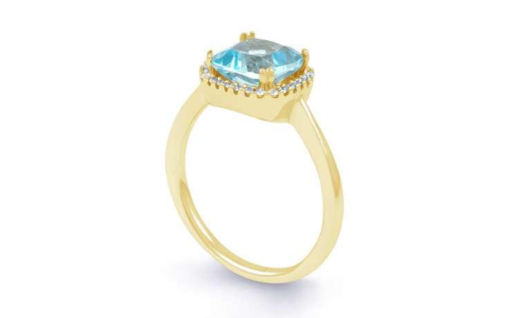 Cushion Cut Blue Topaz Ring product image 3