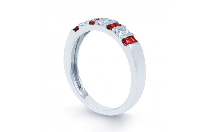 Ruby and Diamond Half Eternity Ring product image 2
