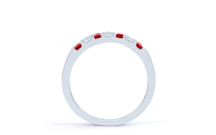 Ruby and Diamond Half Eternity Ring product image 3