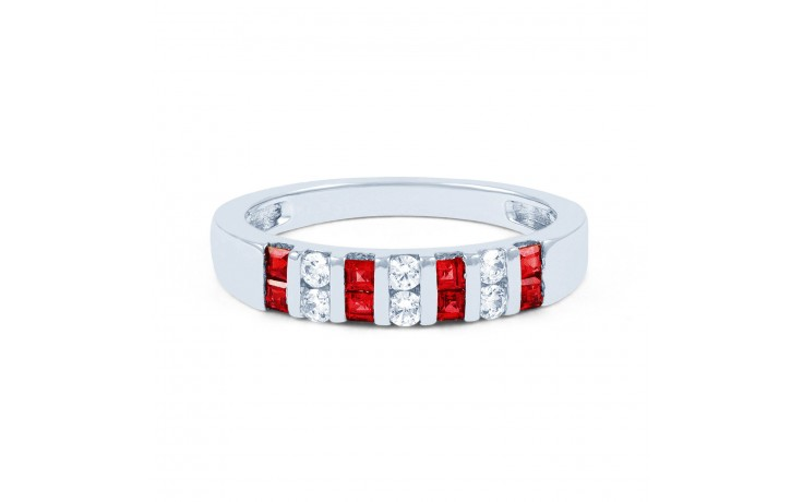Ruby and Diamond Half Eternity Ring product image 1