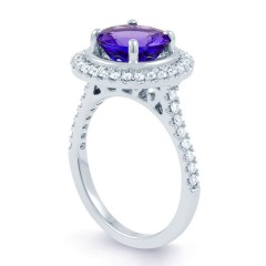 Tanzanite Halo Ring image 1