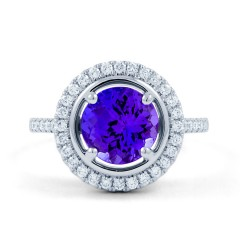 Tanzanite Halo Ring image 0