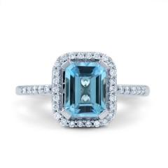 Blue Topaz Vintage Ring image 0
