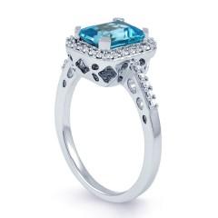 Blue Topaz Vintage Ring image 1