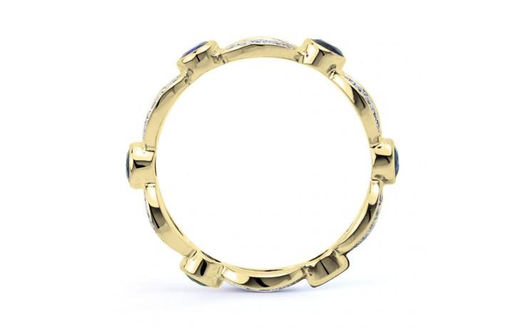 Yellow Gold Blue Sapphire & Diamond Designer Full Eternity Ring product image 3
