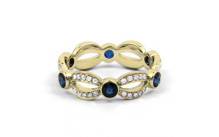 Yellow Gold Blue Sapphire & Diamond Designer Full Eternity Ring product image 1
