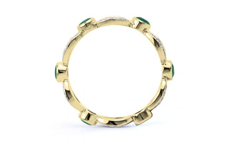18ct Yellow Gold Emerald & Diamond Designer Full Eternity Band 0.3ct 6mm product image 3