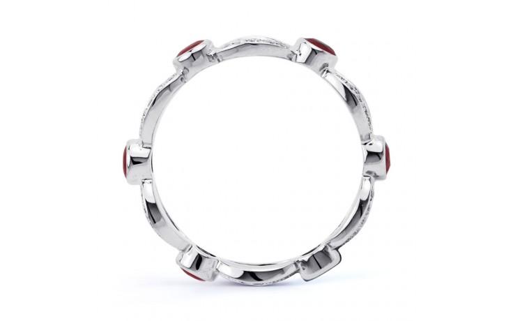 18ct White Gold Ruby & Diamond Designer Full Eternity Ring Band 0.3ct 6mm product image 3