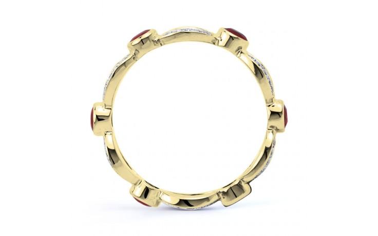 Ruby & Diamond Designer Eternity Ring 6mm product image 3