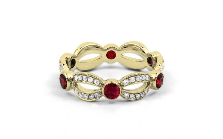 Ruby & Diamond Designer Eternity Ring 6mm product image 1