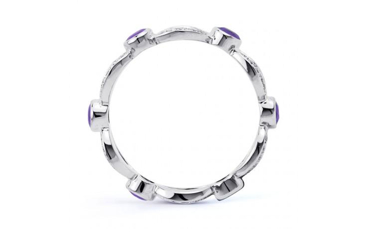 18ct White Gold Tanzanite & Diamond Designer Eternity Ring 0.3ct 6mm product image 3