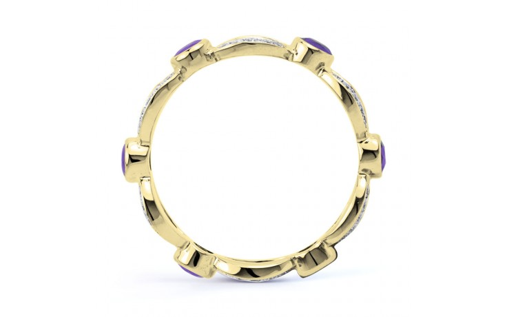 18ct Yellow Gold Tanzanite & Diamond Designer Eternity Ring 0.3ct 6mm product image 3