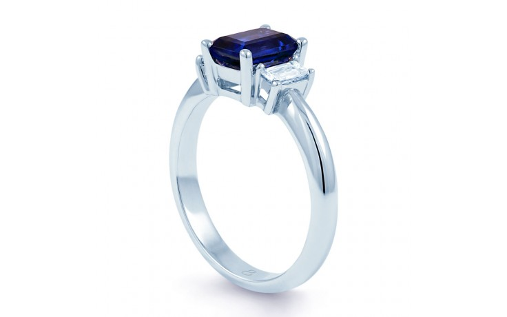 Octagon Blue Sapphire Ring product image 2