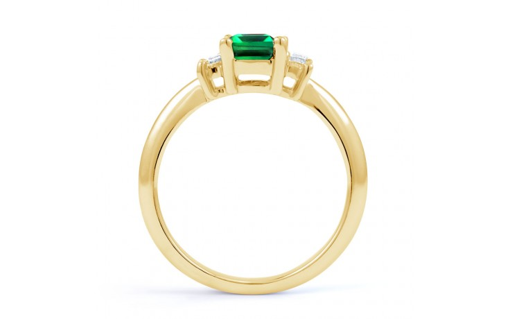 Emerald Gold Engagement Ring product image 3