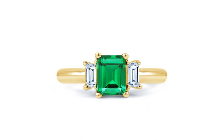 Emerald Gold Engagement Ring product image 1