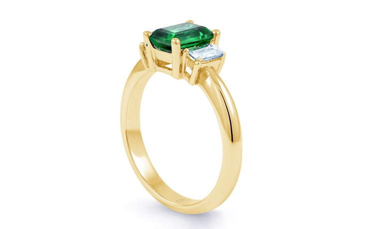 Emerald Gold Engagement Ring product image 2