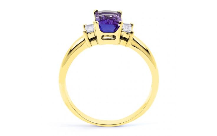 Tanzanite Emerald Gold Ring  product image 3