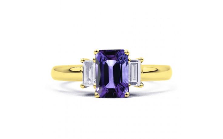 Tanzanite Emerald Gold Ring  product image 1