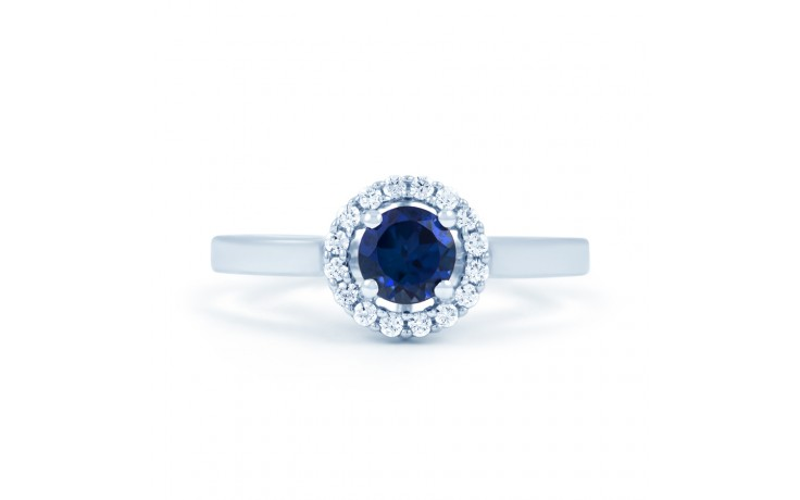 Blue Sapphire Halo Ring product image 1