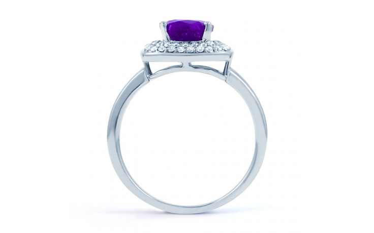 Amethyst & Diamond Cushion Ring product image 3