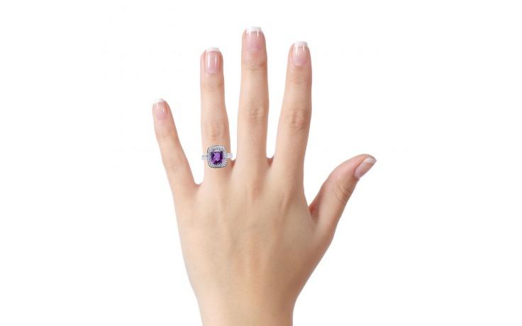 Amethyst & Diamond Cushion Ring product image 4