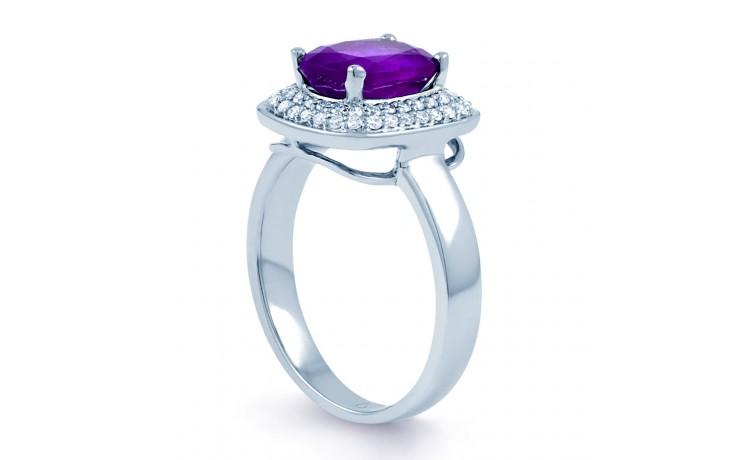 Amethyst & Diamond Cushion Ring product image 2