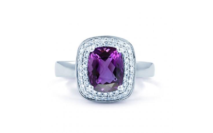 Amethyst & Diamond Cushion Ring product image 1