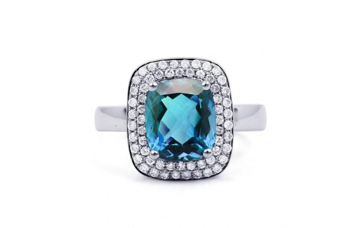 Blue Topaz Cushion Ring product image 1