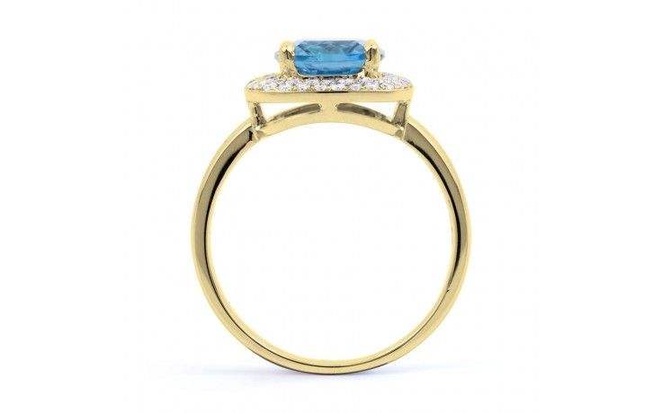 Blue Topaz Cushion Gold Ring product image 3