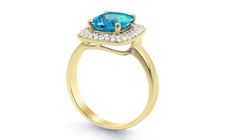 Blue Topaz Cushion Gold Ring product image 2