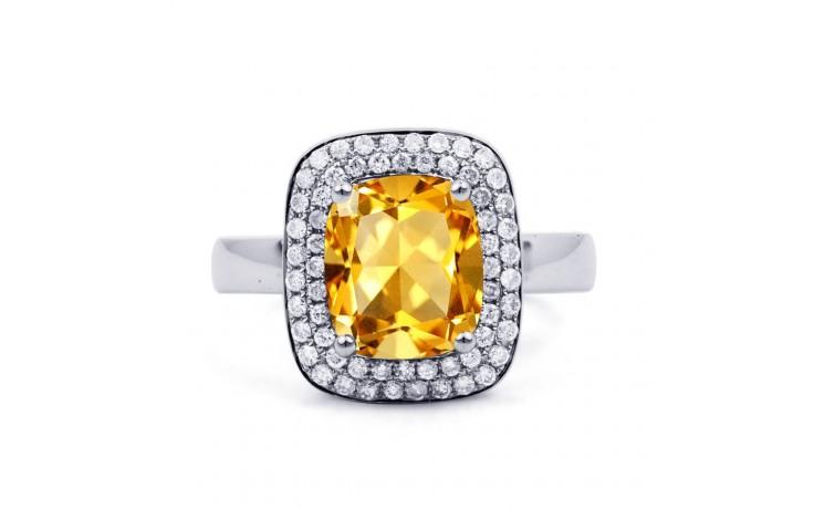 Citrine Cushion White Gold Ring  product image 1