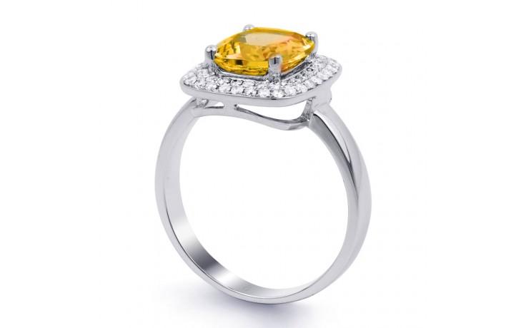 Citrine Cushion White Gold Ring  product image 2