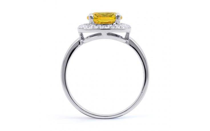 Citrine Cushion White Gold Ring  product image 3